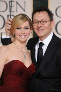 Michael Emerson And Wife Carrie Preston On Golden Globes